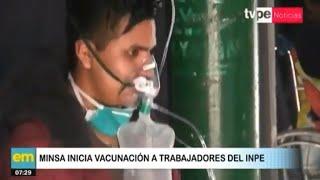 Minsa inicia vacunación a trabajadores del INPE