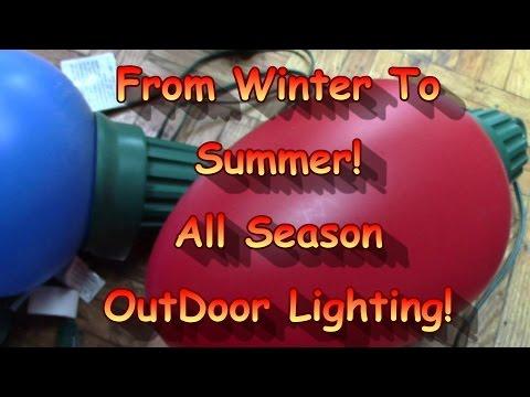 Making Winter Lights Into Summer Lanterns