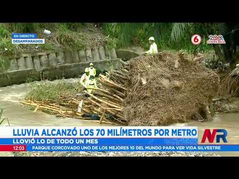 Río Cañas provoca severos daños en Desamparados