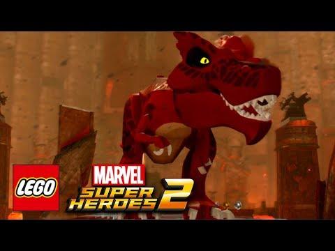 LEGO Marvel Super Heroes 2 - Devil Dinosaur Free Roam Gameplay Showcase