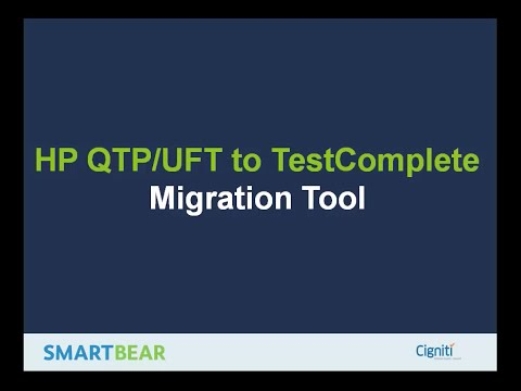 HP UFT to TestComplete Migration Tool