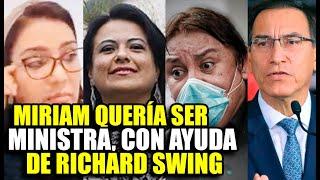 NUEVO AUDIO DE KAREM ROCA REVELA QUE MIRIAM QUERIA SER MINISTRA Y LE PIDIÓ AYUDA A RICHARD SWING