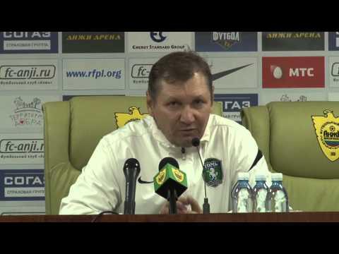 Пресс-конференция Василия Баскакова после матча \Анжи\ - \Томь\