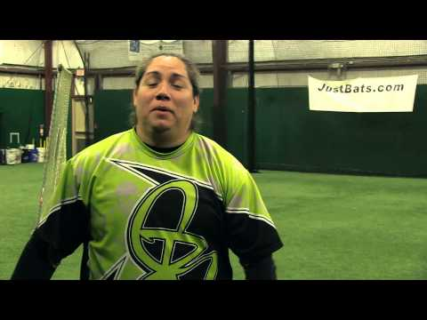 DeMarini Ball Exit Speed Competition: Crystl Bustos vs. Chris Larsen  Video
