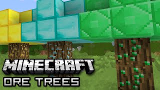 Minecraft: GROWING MONEY ON TREES - Tree Ore Mod Showcase