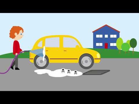 Tvätta inte bilen på gatan