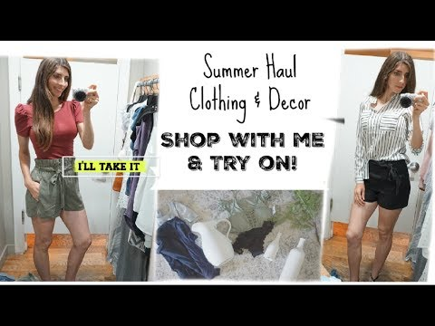 Summer Clothing Try On & Decor Haul | Shop With Me | Momma From Scratch