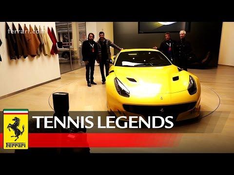 Four tennis legends visit Maranello