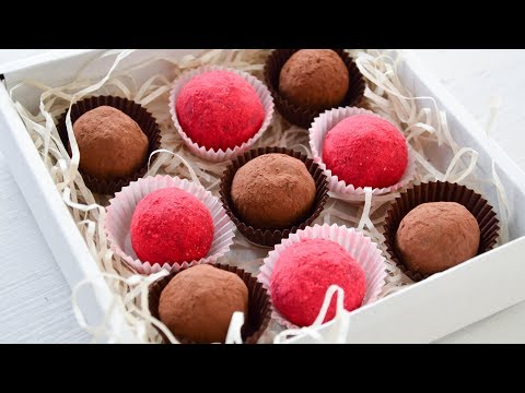 Трюфели ☆ Малиновые и шоколадные ☆ Chocolate truffles