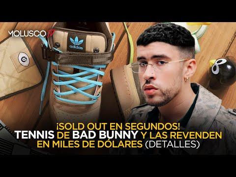 Fanáticos de Bad Bunny molestos con lanzamiento de sus tennis (¿te quedaste sin ellas  Detalles)