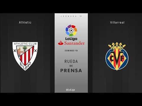 Rueda de prensa Athletic vs Villarreal