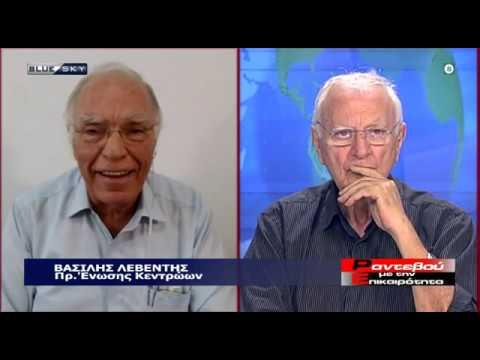 Βασίλης Λεβέντης με τον Κώστα Χαρδαβέλλα (BlueSky, 3-7-2020)