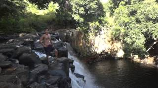 Waterfall Diving at Rochester Falls - Mauritius