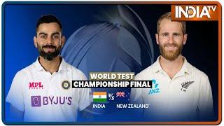 WTC Final, IND vs NZ: दूसरी पारी में भारत की सधी हुई शुरुआत, न्यूजीलैंड पर बनाई 32 रन की बढ़त - INDIATV