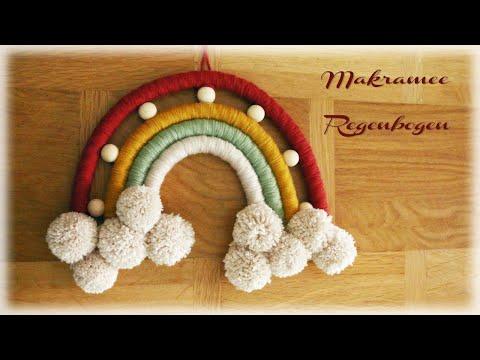 Makramee Regenbogen #2 * DIY * Macrame Rainbow