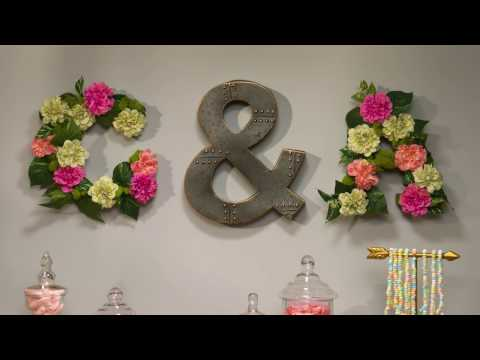 Blooms for Any Room! | DIY Floral Monogram