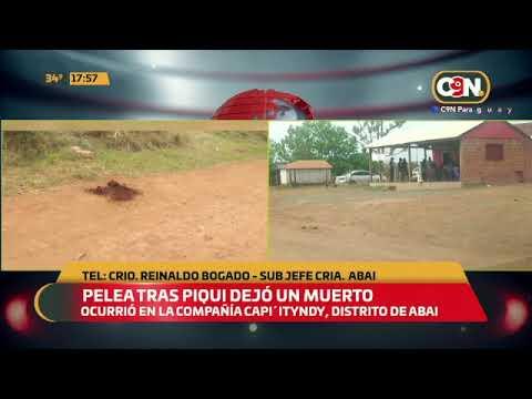 Aba'i: Pelea tras piqui dejó un muerto