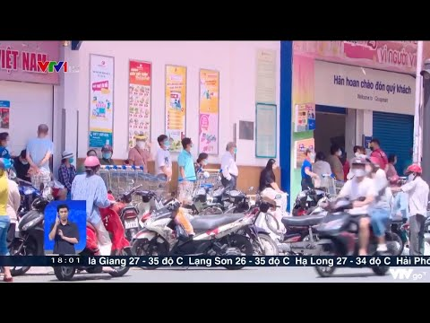 Người dân TP Hồ Chí Minh đổ xô đi mua thực phẩm sau thông báo tiếp tục giãn cách | VTV24