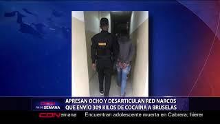 Apresan ocho y desarticulan red narcos que envío 309 kilos de cocaina a Bruselas