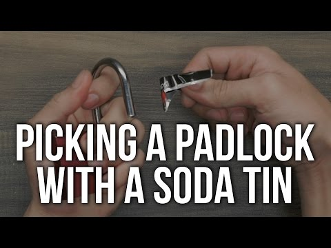Picking A Padlock With A Soda Tin