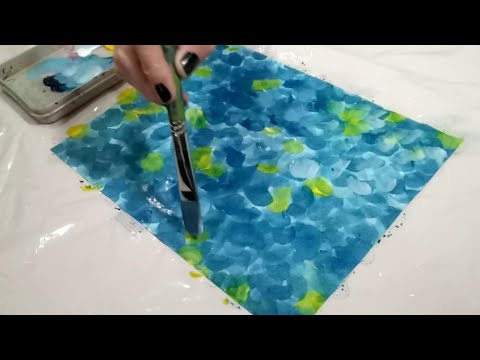 D.I.Y Hand-painted Collage Paper – How to Stain Paper with Acrylic Paint