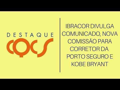 Imagem post: Ibracor divulga comunicado, Nova comissão para Corretor da Porto Seguro e Kobe Bryant