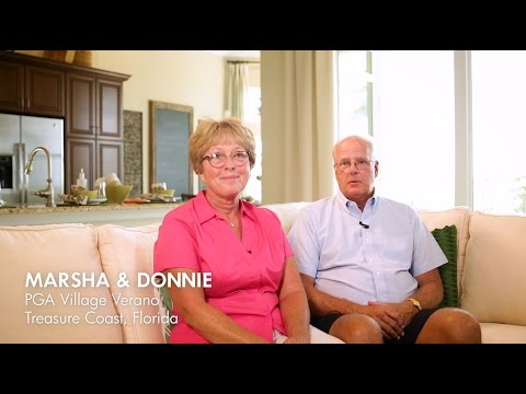 Residents of PGA Village Verano Marsha & Donnie truly love it here