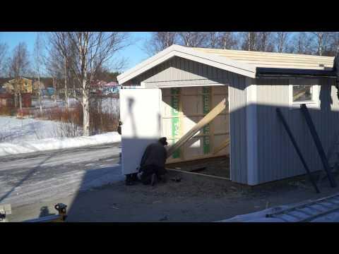 Bygg garage med Lövångers Byggs väggblocksystem