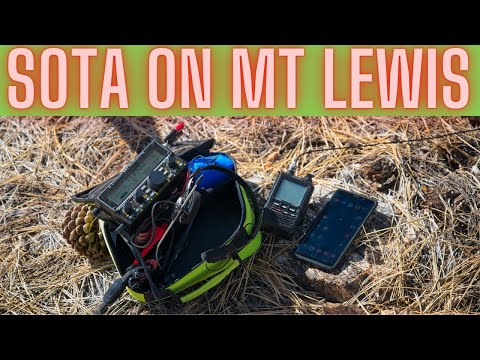 SOTA on Mt Lewis with a new Antenna and the Elecraft KX2. 4K