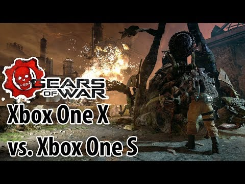 Xbox One X vs. Xbox One S: GEARS OF WAR 4 Gameplay in 4K
