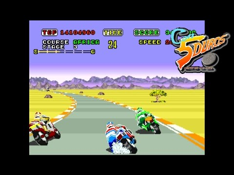 "SUPER HANG-ON (BEGINNER COURSE) - ""CON 5 DUROS"" Episodio 453 (+Ver Mega Drive) (1cc) (CTR)"