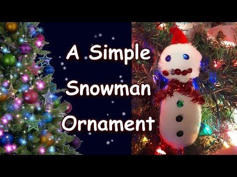 A Simple Snowman Ornament