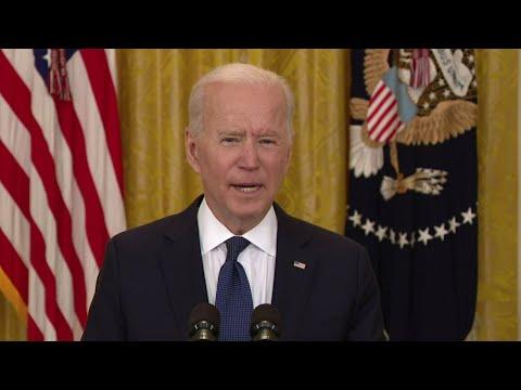 Biden talks economic efforts and pandemic relief