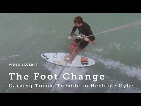 Carving Turns: Toeside to Heelside Gybe - Kitesurfing Technique & Tips
