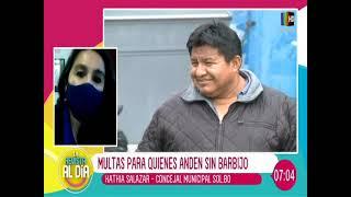 Se aplicará una multa de 589 Bs. para aquellas personas que no utilicen barbijo en La Paz
