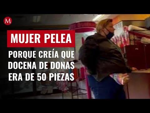 Mujer pelea en tienda porque creía que una docena de donas era de 50 piezas