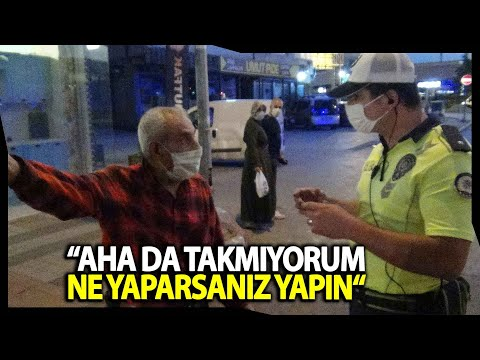 Yaşlı Adamla Polisin İlginç 'Maske' Diyaloğu
