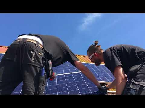 Strålande med solenergi hos lantbrukskunder