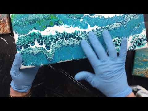 ( 900 ) Acrylic pouring tips and dried paintings ( part 1 of 3 )