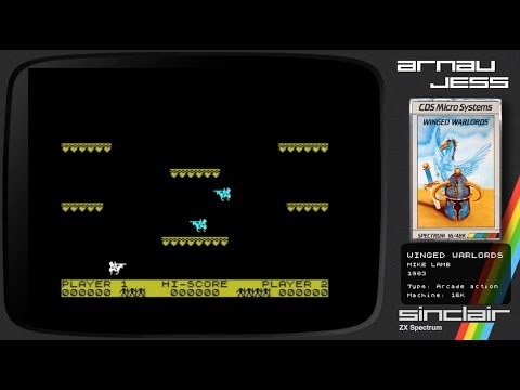 WINGE WARLORDS Zx Spectrum by Mike Lamb