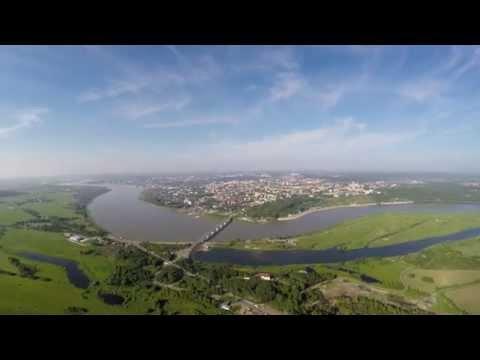 Квадрокоптер. Вид на Томск