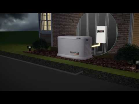Generac Guardian Series Air-Cooled Standby Generator - 22 kW (LP)/19.5 kW (NG), 200 Amp Transfer Swi