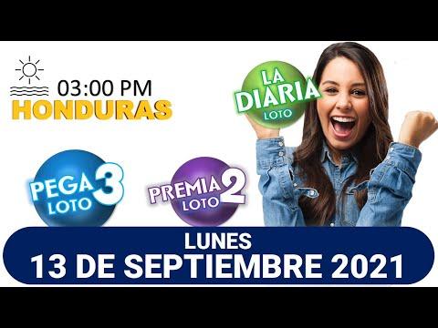 Sorteo 03 PM Loto Honduras, La Diaria, Pega 3, Premia 2, LUNES 13 de septiembre 2021 |
