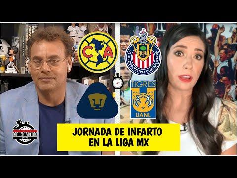 LIGA MX América puede eliminar a Pumas. Chivas puede sacar a Tigres. Jornada de infarto   Cronómetro