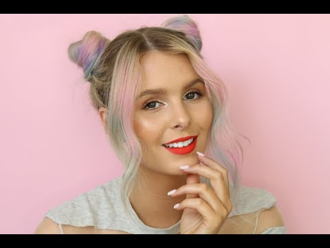 QUICK AND EASY FESTIVAL HAIR TUTORIAL USING L'OREAL COLORISTA SPRAYS   RACHAEL BROOK