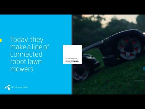 Customer case: Husqvarna · Connected Robot Lawnmowers · Telenor Connexion