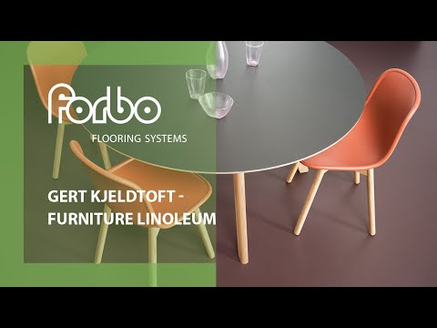 Gert Kjeldtoft loves Forbo Furniture Linoleum