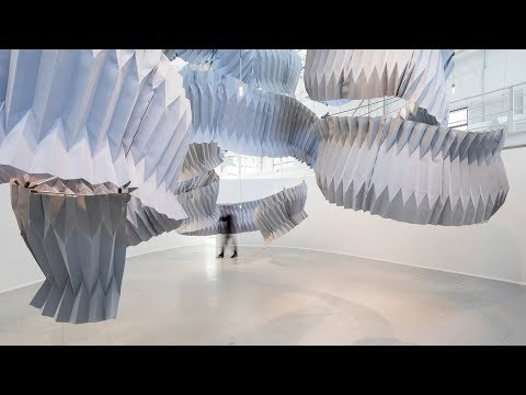 Dassault Systèmes showcases pollution-absorbing architecture by Kengo Kuma and Daan Roosegaarde