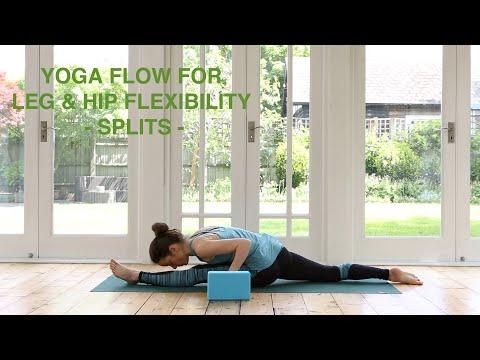 Yoga Flow For Leg & Hip Flexibility / Improve Your Splits 45 mins