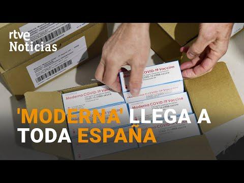 35.700 DOSIS de LA VACUNA MODERNA llega a las comunidades de ESPAÑA | RTVE